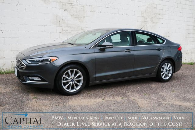 2017 Ford Fusion SE Ecoboost w/Backup Cam, Heated Seats, LED Headlights, Bluetooth Audio & Gets 32+ MPG