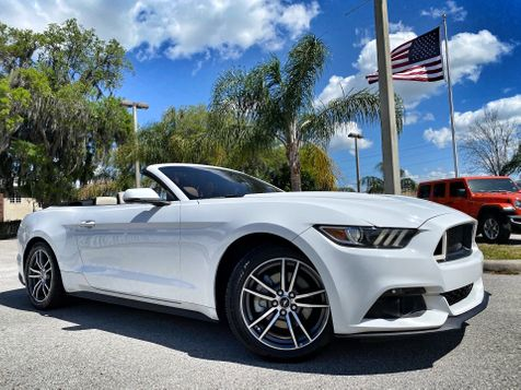 2017 Ford Mustang CONVERTIBLE PREMIUM ECOBOOST CARFAX CERT in Plant City, Florida