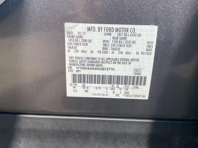 2017 Ford Police Interceptor Utility Hoosick Falls, New York 7