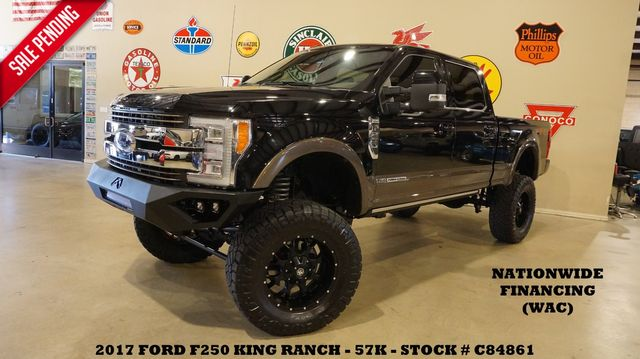 2017 Ford F-250 King Ranch 4X4 LIFTED,ROOF,360 CAM,BLK 20'S,57K