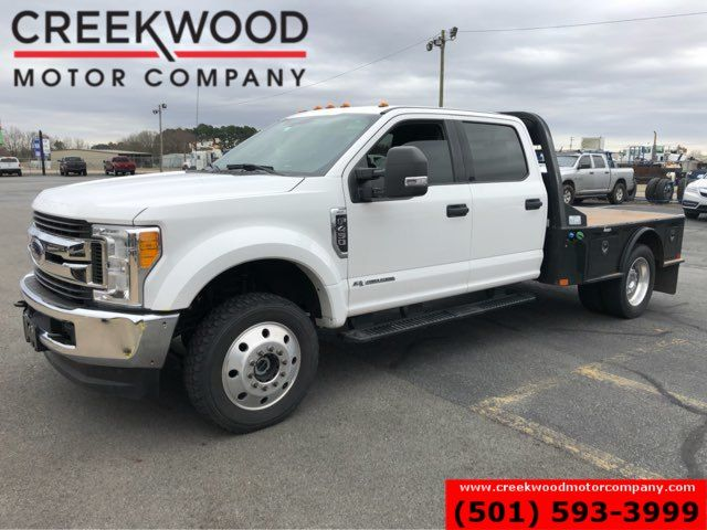 2017 Ford Super Duty F-450 XLT 4x4 Diesel Dually White Utility Flatbed 1Owner