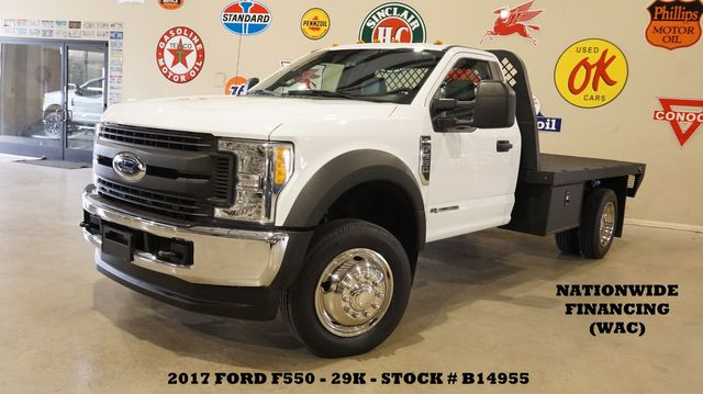 2017 Ford F-550 DRW Chassis Cab XL 4X4,DIESEL,KNAPHEIDE FLATBED,NEW TIRES,29K