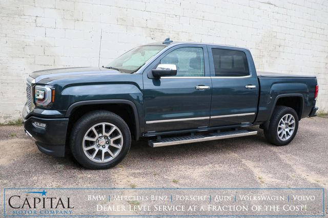 2017 GMC Sierra 1500 Denali 4x4 Crew Cab w/Nav, Backup Cam, Heated/Cooled Seats, Moonroof & BOSE Audio in Eau Claire, Wisconsin 54703