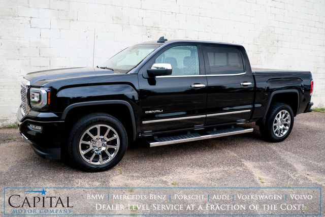 2017 GMC Sierra 1500 Denali Crew Cab 4x4 w/Nav, Backup Cam, Heated/Cooled Seats, Bose Audio & Tow Package in Eau Claire, Wisconsin 54703