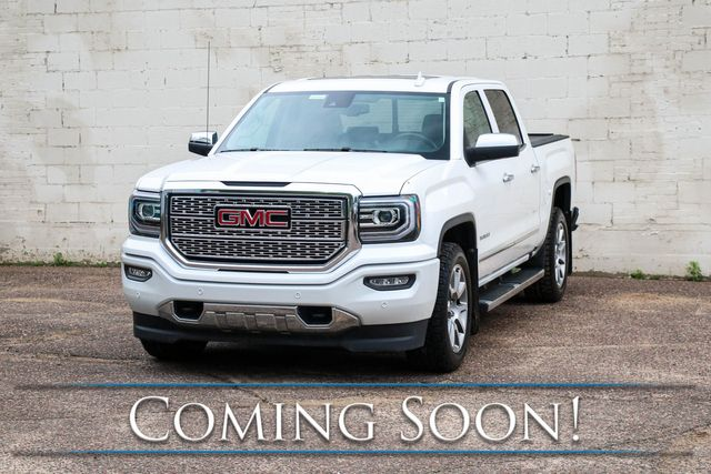 2017 GMC Sierra Denali 1500 Crew Cab 4x4 w/6.2L V8, Nav, Backup Cam, Heated/Cooled Seats & Tow Pkg in Eau Claire, Wisconsin 54703