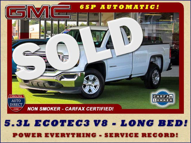 2017 GMC Sierra 1500 REG CAB Long Bed RWD - 5.3L V8 - 1 OWNER! Mooresville , NC