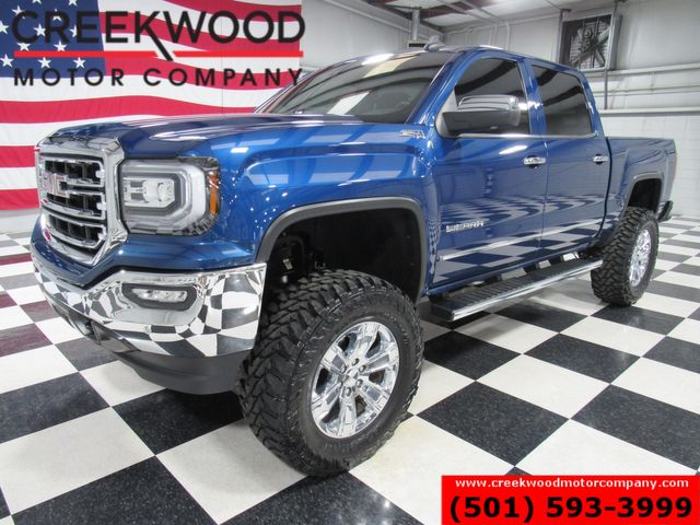 2017 GMC Sierra 1500 SLT 4x4 Z71 Blue Lifted New Tires Nav Roof CLEAN