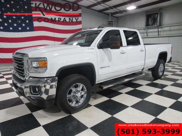 2017 GMC Sierra 2500HD SLE 4x4 6.0L Gas White Long Bed New Tires 1 Owner