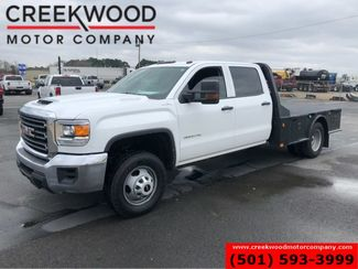 2017 GMC Sierra 3500HD W/T 4x4 Dually Diesel Utility Flatbed White 1Owner in Searcy, AR 72143