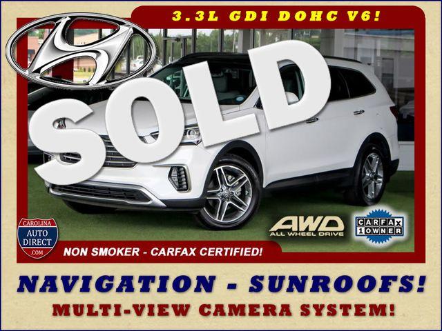 2017 Hyundai Santa Fe SE Ultimate AWD - NAV - PANO SUNROOFS! Mooresville , NC 0