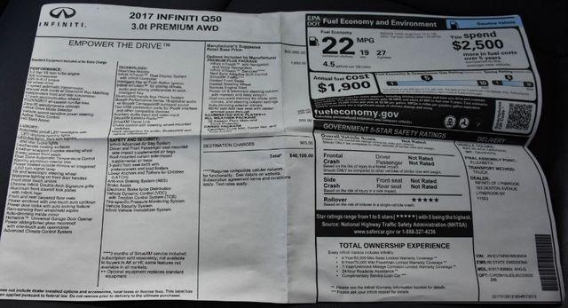 2017 Infiniti Q50 3.0t Premium Waterbury, Connecticut 28