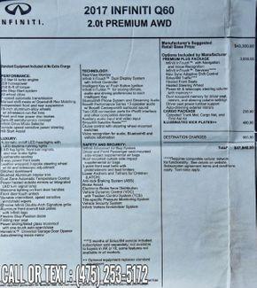 2017 Infiniti Q60 2.0t Premium Waterbury, Connecticut 43