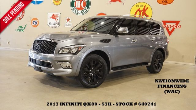 2017 Infiniti QX80 RWD SUNROOF,NAV,360 CAM,HTD LTH,57K,WE FINANCE
