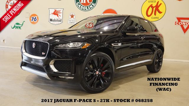 2017 Jaguar F-PACE S AWD PANO ROOF,NAV,BACK-UP,HTD LTH,22'S,27K