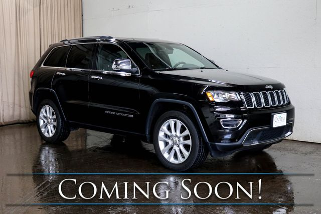 2017 Jeep Grand Cherokee Limited 4x4 SUV w/Nav, Backup Cam, Heated Steering Wheel and Heated Seats