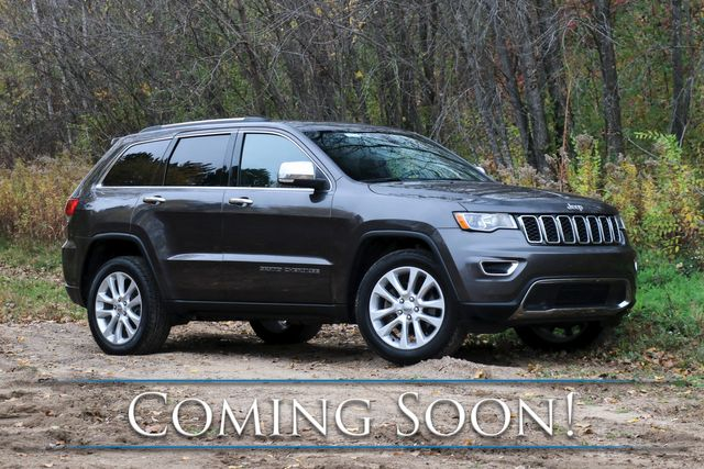 2017 Jeep Grand Cherokee Limited 4x4 SUV w/Nav, Backup Cam, Heated Seats, Bluetooth Audio & Tow Package