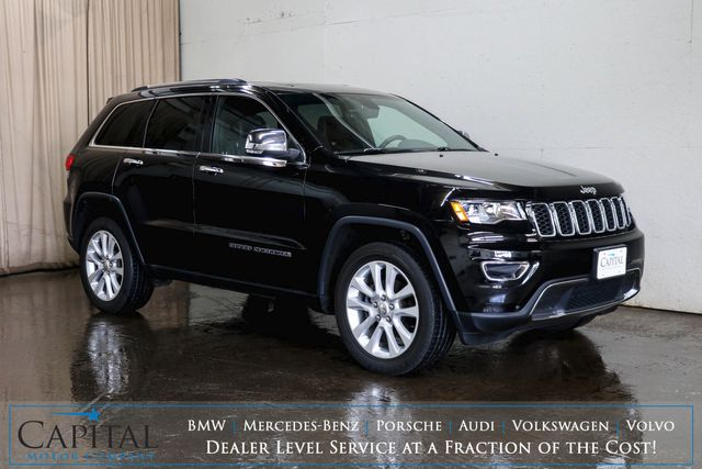 2017 Jeep Grand Cherokee Limited 4x4 SUV w/Nav, Backup Cam, Heated Steering Wheel and Heated Seats
