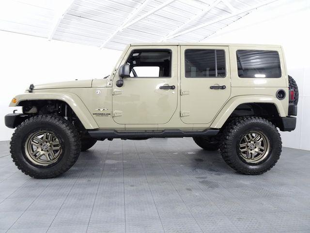 2017 Jeep Wrangler Unlimited Sahara LIFT/CUSTOM WHEELS AND TIRES in McKinney, Texas 75070
