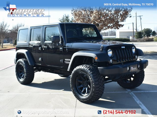 2017 Jeep Wrangler Unlimited Sport NEW LIFT/CUSTOM WHEELS AND TIRES