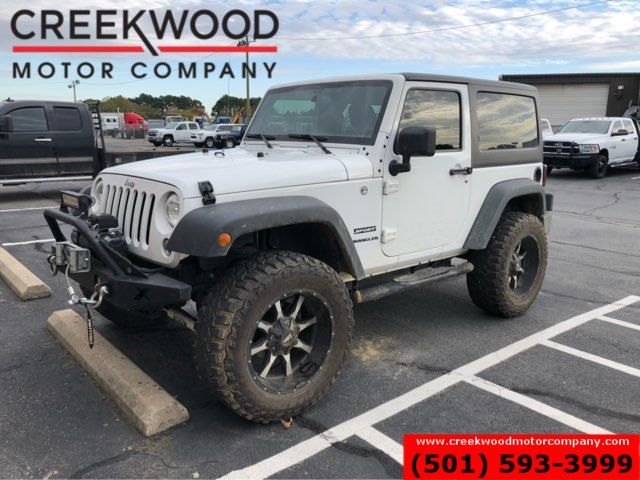 2017 Jeep Wrangler Sport 4x4 Auto Hardtop White Lifted Winch 20s NICE
