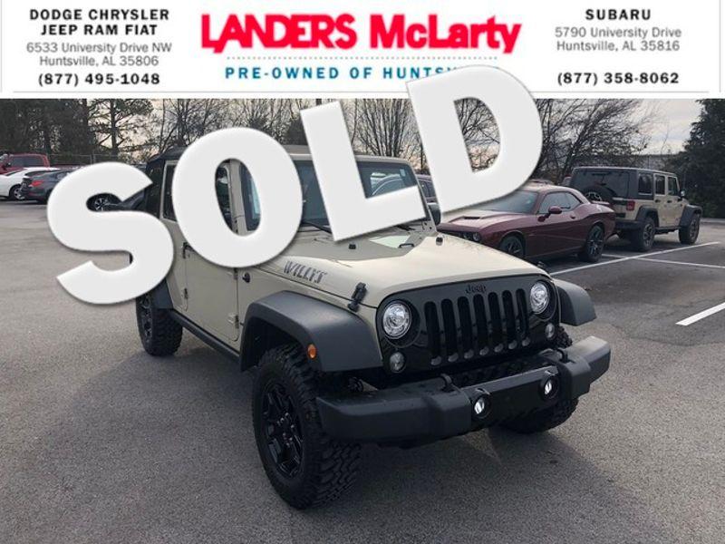 2017 Jeep Wrangler Unlimited Willys Wheeler   Huntsville, Alabama   Landers Mclarty DCJ & Subaru in Huntsville Alabama