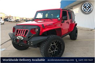 2017 Jeep Wrangler Unlimited 4X4 CUSTOM WHEELS TIRES WINCH CLEAN CARFAX AUTO  in Rowlett