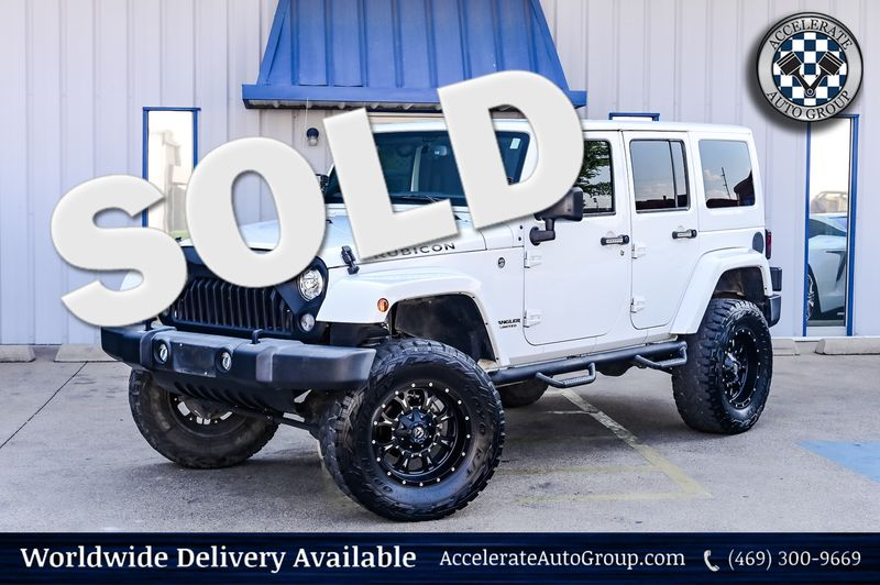 2017 Jeep Wrangler Unlimited 3.6L V6 RUBICON, LEATHER STS,FRDM 3-PIECE HARD TOP in Rowlett Texas