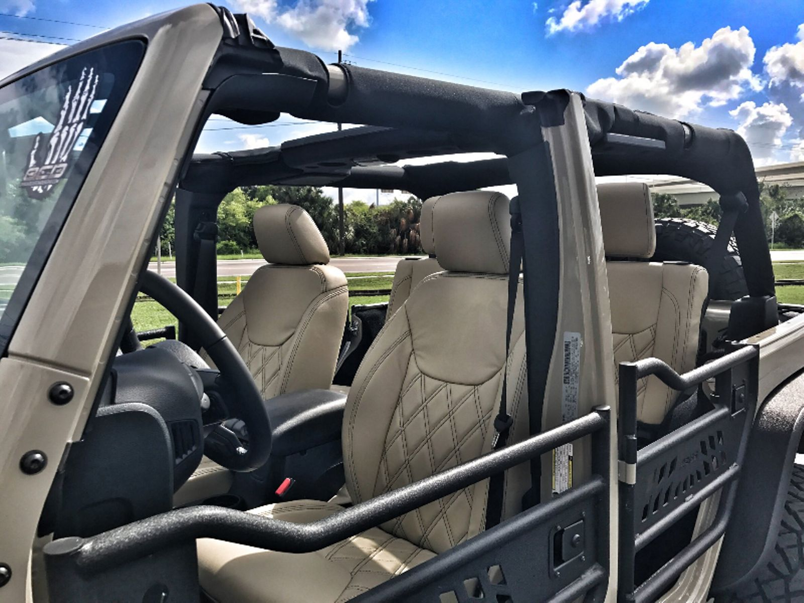 Jeep Wrangler Jk Leather Seats 2017 Unlimited Custom Lifted 24s Gobi 37s Florida Bayshore Automotive In