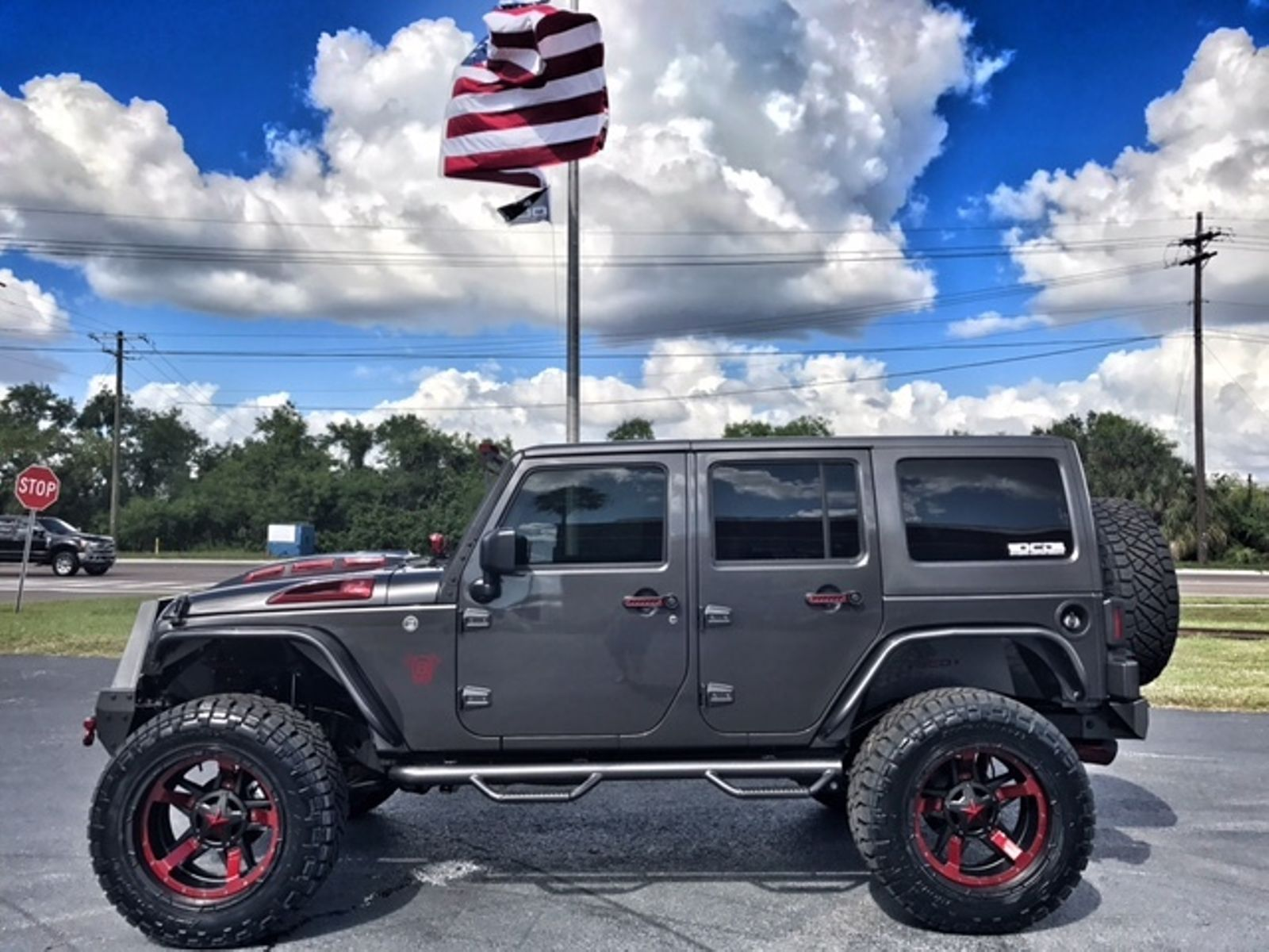 2017 Jeep Wrangler Unlimited Granite Fire Red Custom Build Florida