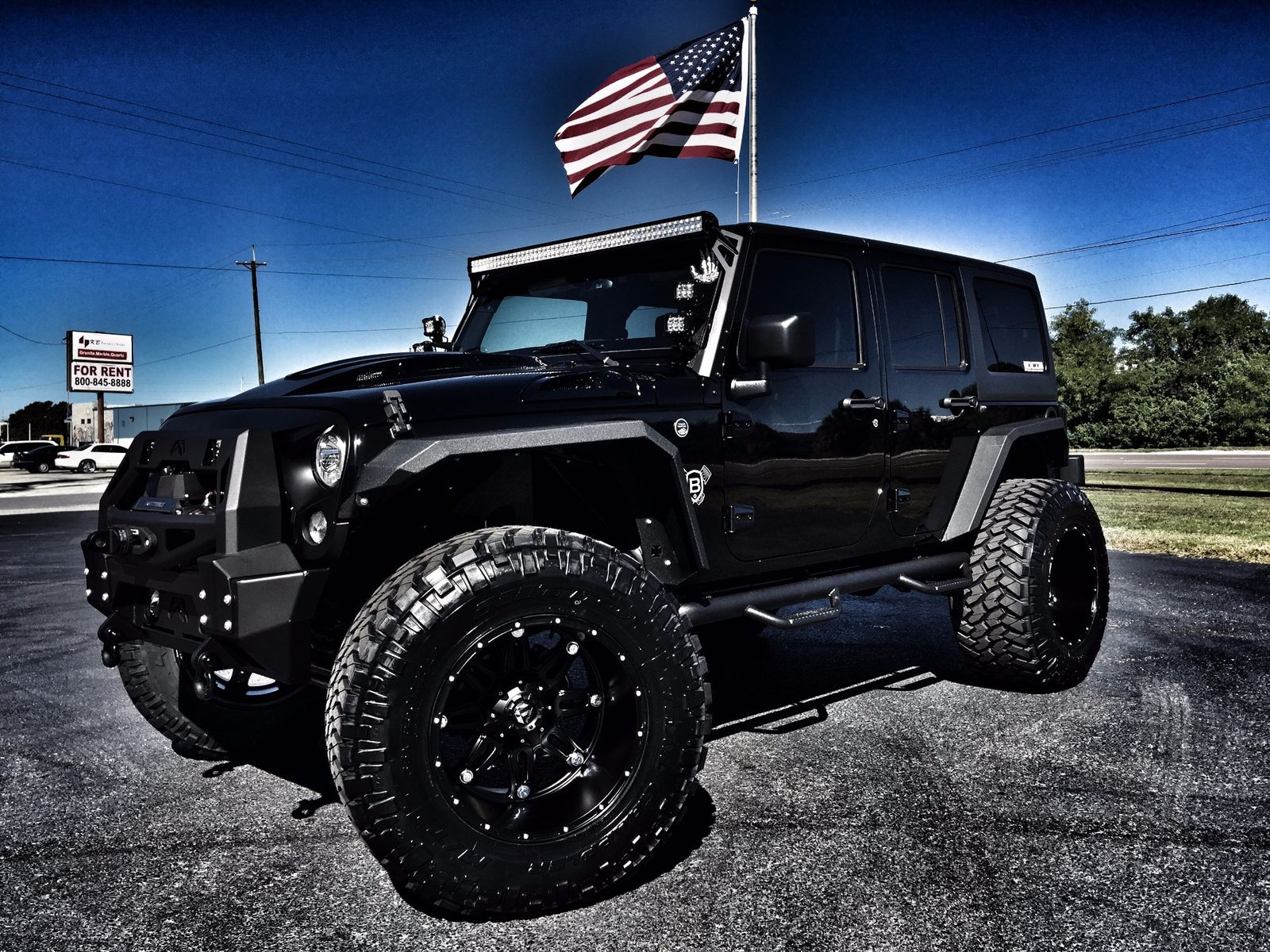 jeep wrangler unlimited with matte black off road wrap custom. Black Bedroom Furniture Sets. Home Design Ideas