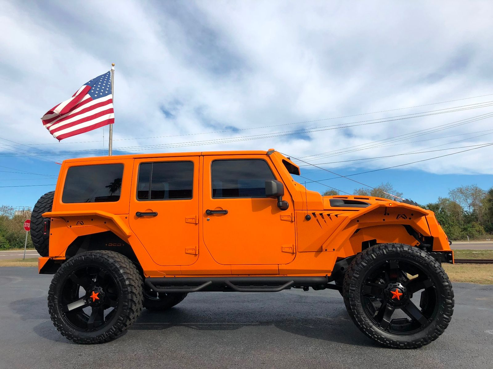 2017 jeep wrangler unlimited orange crush rubicon grumper 488 yukon florida bayshore automotive. Black Bedroom Furniture Sets. Home Design Ideas