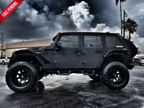 2017 Jeep Wrangler Unlimited RUBICON SLANTBACK LINE X FAB FOURS GRUMPER LEATHER in , Florida