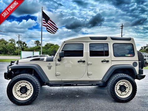 2017 Jeep Wrangler Unlimited GOBI DEFENDER SAFARI CUSTOM LIFTED BLACK RHINO in Plant City, Florida