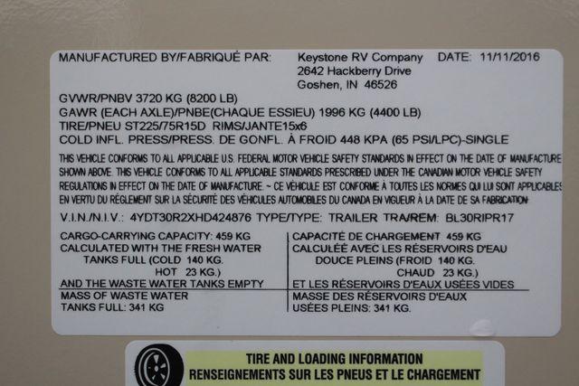 2017 Keystone Premier Ultra Lite 30RIPR Mooresville , NC 57