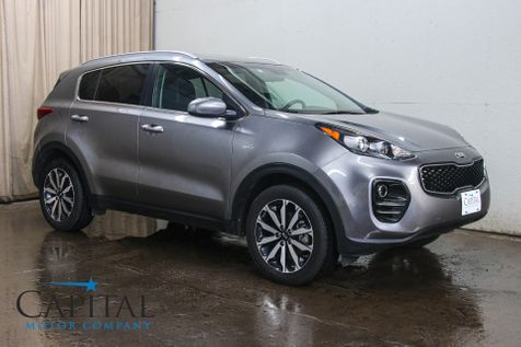 2017 Kia Sportage EX AWD w/Touchscreen INFOtainment, Backup Cam, Heated Seats, Bluetooth Audio & 18