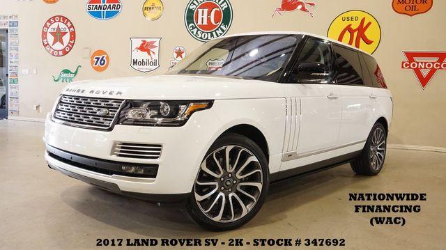 2017 Land Rover Range Rover SV Autobiography LWB MSRP 205K,2K,WE FINANCE