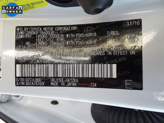 2017 Lexus GX 460 Luxury Madison, NC 63