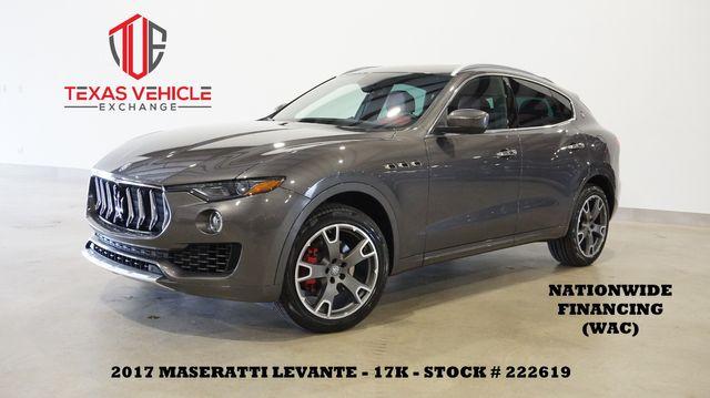 2017 Maserati Levante AWD SUNROOF,NAV,BACK-UP,HTD/COOL LTH,20'S,17K