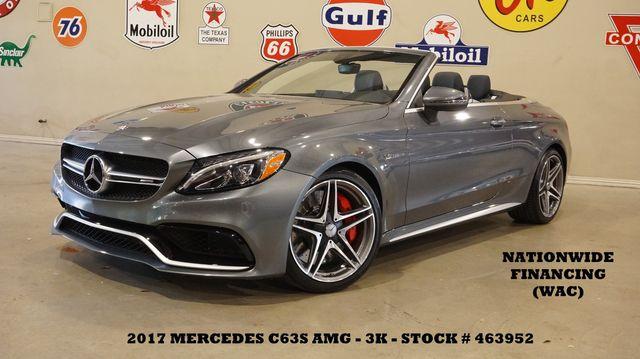 2017 Mercedes-Benz AMG C 63 S Convertible MSRP 88K,P2 PKG,HTD/COOL LTH,3K in Carrollton, TX 75006