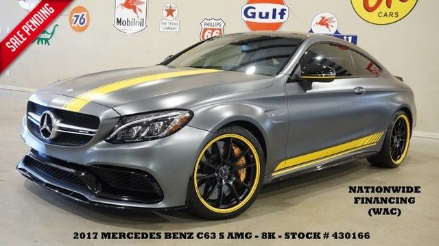 2017 Mercedes-Benz AMG C 63 S Coupe MATTE FINISH,PANO ROOF,NAV,HTD LTH...