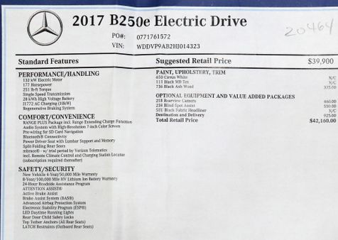 2017 Mercedes-Benz B-Class B250e Electric Drive in Alexandria, VA