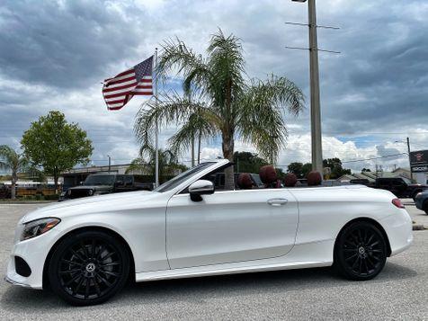 2017 Mercedes-Benz C 300 CONVERTIBLE PREMIUM CARFAX CERT 1 OWNER  in Plant City, Florida