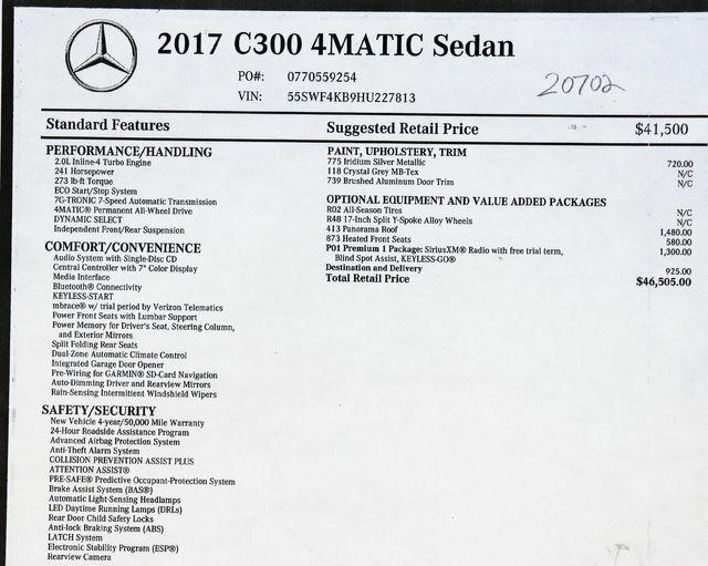 2017 Mercedes-Benz C-Class C300 4Matic in Alexandria VA