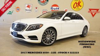 2017 Mercedes-Benz S 550 PANO ROOF,NAV,360 CAM,HTD/COOL LTH,22K in Carrollton, TX 75006