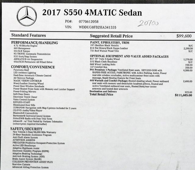 2017 Mercedes-Benz S-Class S550 4Matic  in Alexandria VA