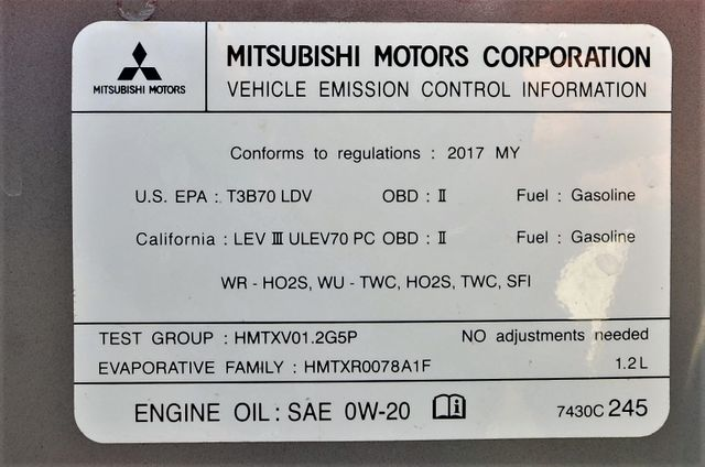 2017 Mitsubishi Mirage ES in Reseda, CA, CA 91335
