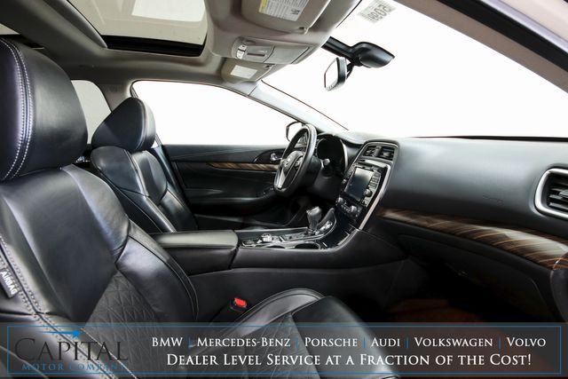 2017 Nissan Maxima Platinum Luxury-Sport Sedan w/Nav, 360º View Cameras, Heated/Cooled Seats & BOSE Audio in Eau Claire, Wisconsin 54703