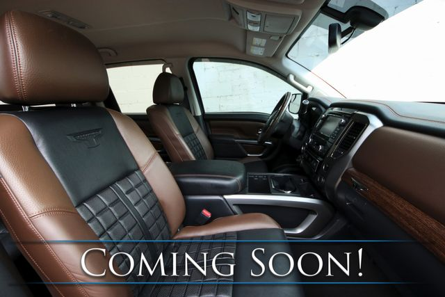 "2017 Nissan Titan Platinum Reserve Crew Cab 4x4 w/Navi, Heated/Cooled Seats, 20"" Wheels & 2-Tone Interior in Eau Claire, Wisconsin 54703"