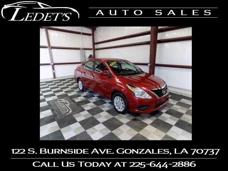 2017 Nissan Versa Sedan SV - Ledet's Auto Sales Gonzales_state_zip in Gonzales Louisiana