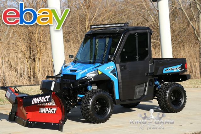2017 Polaris RANGER 1000 HVAC HEAT/AC LIFTED WESTERN V PLOW